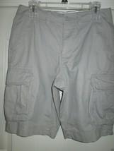 Sonoma Life + Style Cargo Solid Men' Shorts 040 Paloma 30 MSRP $48.00 UPC46 - $17.47