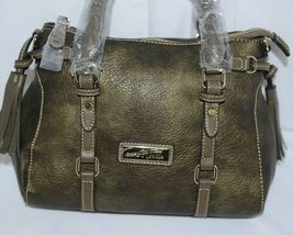 Simply Noelle Brand HB247 Black Gold Metallic Color Purse with Side Tassels image 6