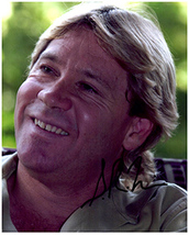 STEVE IRWIN  Authentic Original  SIGNED AUTOGRAPHED PHOTO w/ COA 126 - $125.00
