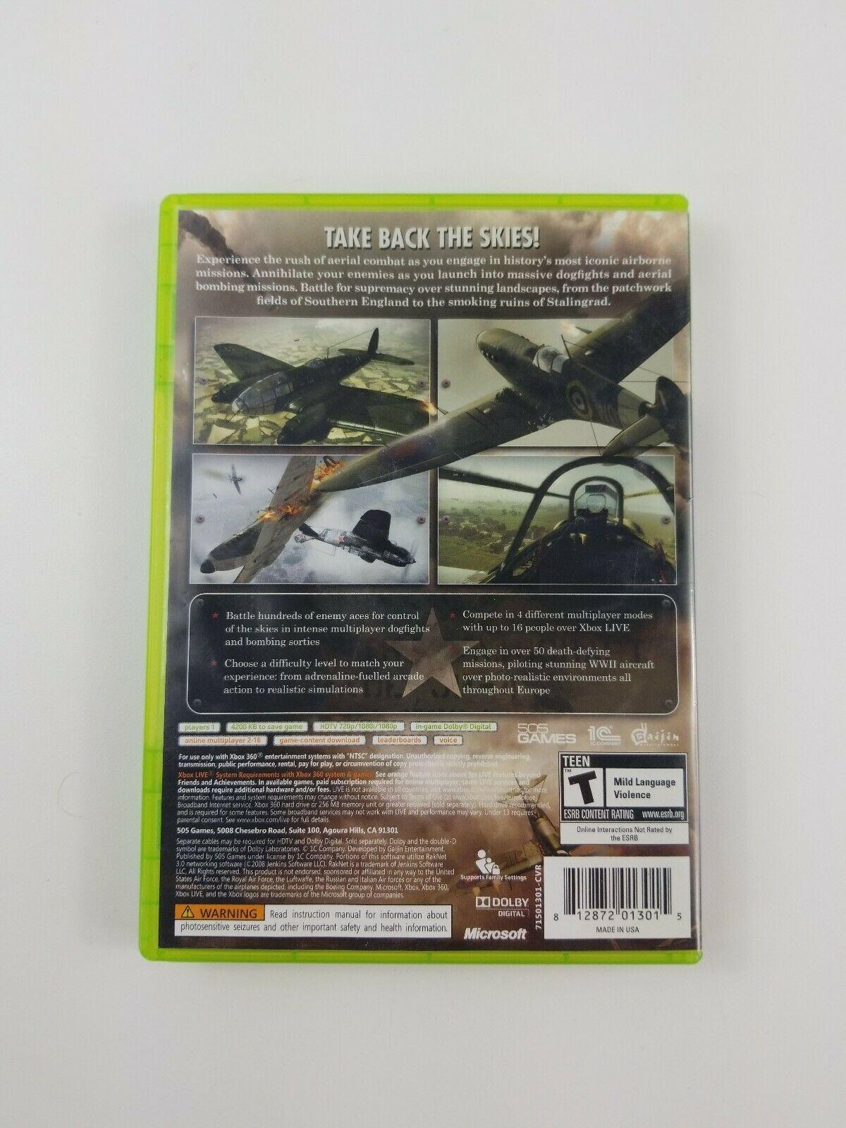 IL-2 Sturmovik: Birds of Prey (Xbox 360, 2009) Tested (Manual & Case Included)