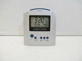 Atomic Alarm Clock Table or Desk Time Temperature Date Day of Week Snooz... - $19.90