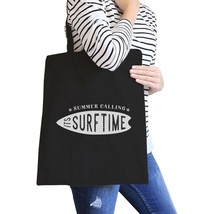 Summer Calling It's Surf Time Black Canvas Bags - $15.99