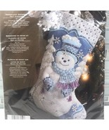 Bucilla 86059 Snowflake Snowman Felt Appliqué Christmas Stocking Kit Stabziani - $45.67