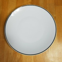 Rosenthal Continental 3455 White Platinum Trim Dinner Plate Germany 1950's - $4.90