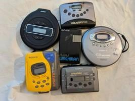 Lot De 6 Sony Walkman Bose Am Fm Cassette Lecteurs Lecteur CD Comme Est - $65.25