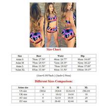 Womens Floral Bikini Set Crop Top High Waist Short Summer Bathing Suit Swimsuit image 3