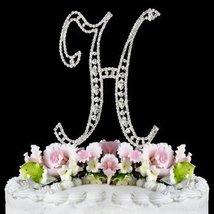 Swarovski Crystal Monogram Cake Topper Vintage Style  Letter H - $15.52