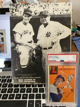 Original Ted Williams/Babe Ruth photo from 1943, plus 54 Ted Williams card - $247.50