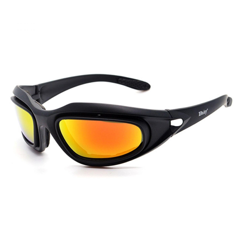 0ad1c7224ccc Daisy C5 Sunglasses Polarized Army Goggles Military 4 Lens Kit Mens Desert  Sport