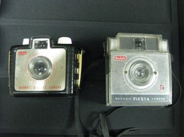 KODAK  BROWNIE BULLET CAMERA AND KODAK BROWNIE FIESTA CAMERA - $24.74
