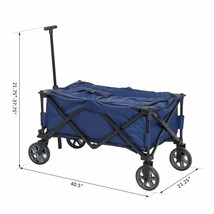 NEW! Rolling Insulated Cooler Cart with Wheels Outdoor - $101.66