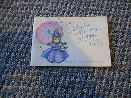 Old Vintage My Calendar a Memory Jogger for 1950 Booklet -Year w/ Greeti... - $9.99
