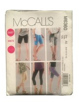 Easy OOP McCALLS 6360 Misses Knit Leggings in 4 lengths PATTERN 6-8-10-1... - $8.02
