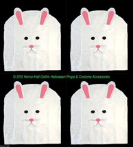 SET-4-White Felt EASTER BUNNY RABBIT CHAIR COVER Spring Holiday Party De... - $12.84