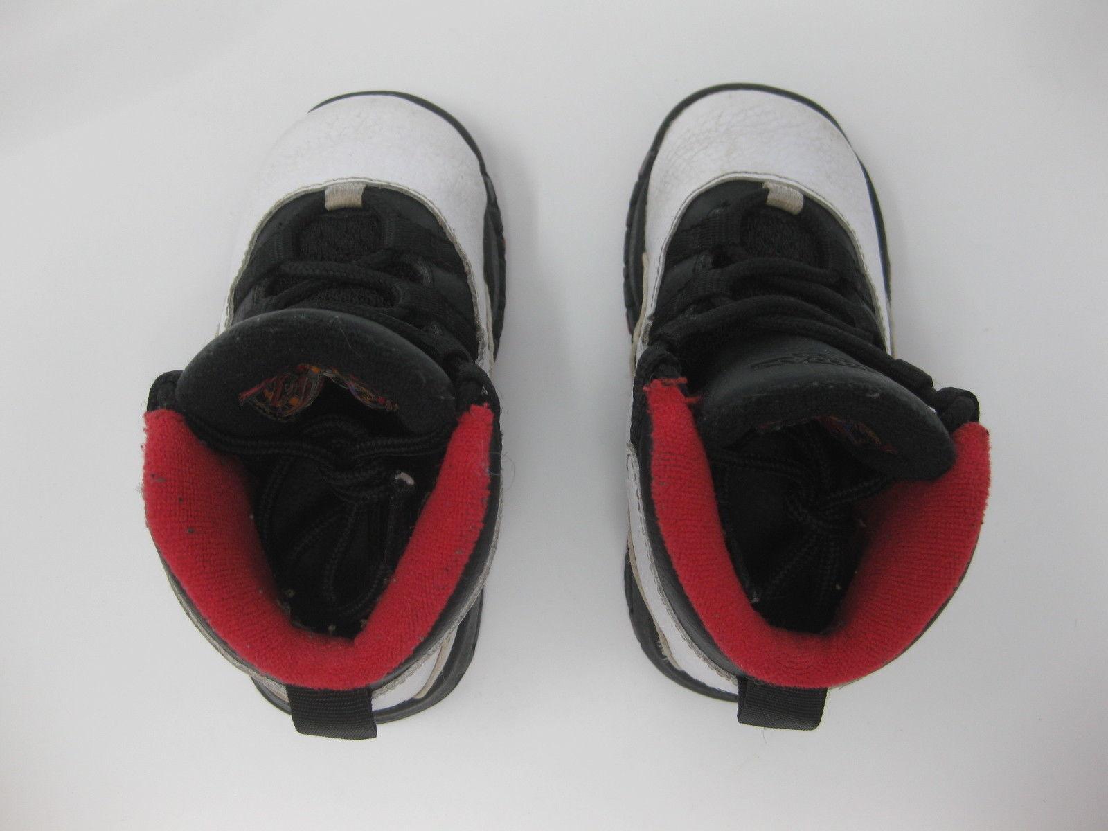 online retailer b0475 58a4b Nike Air Jordan X 10 Retro Double Nickel White Black 310808-102 Toddler Size