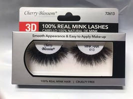 CHERRY BLOSSOM 3D 100% REAL MINK LASHES #72613 CRUELTY FREE VERY LIGHT R... - $4.54