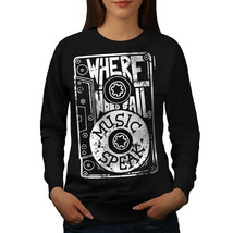 Where Word Fail Jumper Music Speak Women Sweatshirt - $18.99