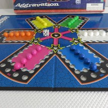 AGGRAVATION CLASSIC MARBLE RACE GAME 1999 MILTON BRADLEY HASBRO COMPLETE - $39.55