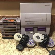 Super Nintendo SNES Console Bundle  W/  7 Games & 2 Controllers Lot - $125.77