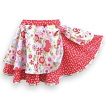 Layered Twirl Skirt, Red and Pink - £33.26 GBP