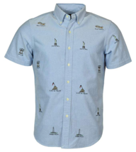 $125 Polo Ralph Lauren Men's American Monument Print Oxford Shirt, Blue,... - $69.29