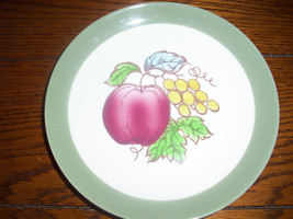 Homer Laughlin Serenade Fruits Apples  grapes Berries Salad Plate OVEN USA RARE - $8.14