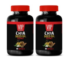 chia seeds - CHIA SEED OIL 1000mg - omega-3 fatty acids 2 Bottles 120 So... - $33.62