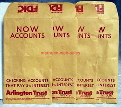 """Arlington Trust Co~Lawrence,Massachusetts~Coin/Money """"NOW"""" Envelopes~197... - $8.00"""