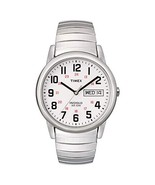 Timex Men's T20461 Easy Reader 35mm Silver-Tone Stainless Steel Expansio... - $55.68