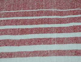 Midwest CBK Brand 147908 Red White Striped Tasseled Throw Blanket image 3