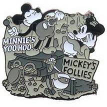Mickey  Minnie Mickey Follies Black  White  Authentic Disney Pin - $29.99