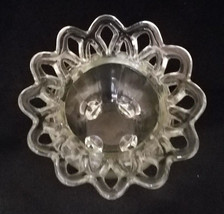 RARE! Vintage Imperial Glass Clear Crocheted Glass Vase (circa 1930-50s) - $22.50
