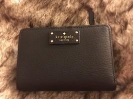 Kate Spade Tellie Grove Street Black Leather Snap Wallet, NWT, MSRP$119 ... - $55.14