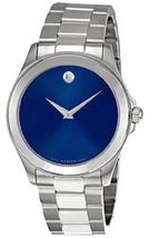Movado Junior Sport Round Blue Dial Stainless Steel Authentic Men's Dres... - $499.00