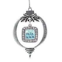 Inspired Silver Fa La Lalala Classic Holiday Decoration Christmas Tree Ornament - $14.69