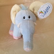 "Wishpets Blue Elephant Plush Stuffed Animal Eugene  9"" Baby Zoo Rattle 9... - $12.37"