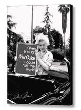 Framed Marilyn Monroe Diet Coke Rules World faux signed autograph Limite... - $18.23