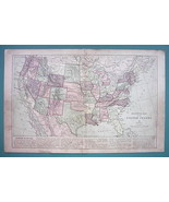 1875 MAP COLOR - UNITED STATES Political Map - $11.44
