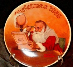 """Christmas """"Grandpa plays Santa"""" by Norman Rockwell Collectors Plate AA20-CP2247"""
