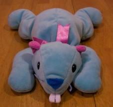 Ty Pillow Pals Blue & Pink Beaver Plush Stuffed Animal - $15.35