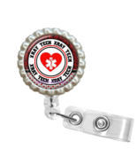 Red X-Ray Tech Retractable Reel ID Name Tag Badge Holder - 1.8 - $10.00