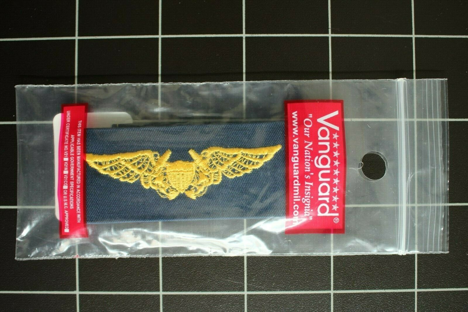 USN US NAVY BLUE COVERALL UNIFORM FLIGHT OFFICER SPECIALTY BADGE INSIGNIA TAPE - $6.88