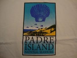 Padre Island National Seashore Tourist Souvenir White Cotton T Shirt Siz... - $16.13