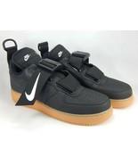 Nike Air Force 1 Utility Size 12 M EU 46 Men's Sneakers Shoes Black AO1531-002 - $145.24