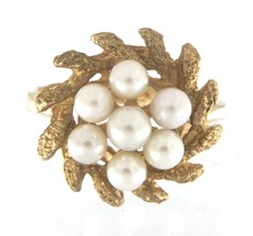 Women's 10kt Yellow Gold Cluster ring - $299.00