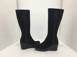 La Canadienne Galaxy Brown Suede Women's Knee High Platform Wedge Heel Boots 5 M image 1