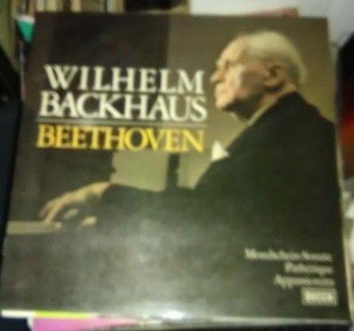 Beethoven Wilhelm Backhaus decca german LP