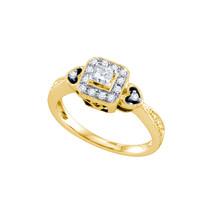 14K Yellow Gold Princess Diamond Womens Bridal Wedding Engagement Ring 1... - $629.00
