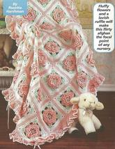 Ruffles & Roses Baby Afghan~ Crochet Pattern~RARE~HARD TO FIND - $29.99