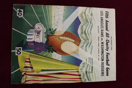 1949 Los Angeles Rams vs Redskins Program 5th Annual Charity Game LA Col... - $39.59